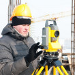 Surveyor at work — Stock Photo