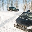 Winter car crash accident — Stock Photo #5458514