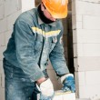 Construction mason worker bricklayer — Stock Photo #5458648