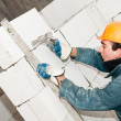 Construction mason worker bricklayer — Stock Photo #5458745
