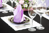 Close-up catering table set — Stok fotoğraf