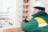 Capataz constructor en construcción — Foto de Stock