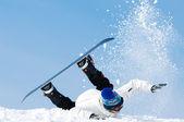 Snowboard extreme falling — Stock Photo