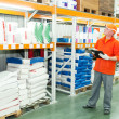 Worker at warehouse — Stock Photo