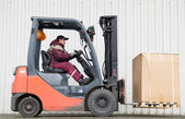Forklift loader with load — Stock Photo