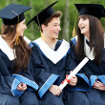Happy graduation students — Stock Photo