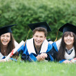 Happy graduate students — Stock Photo