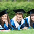 Happy graduate students — Foto Stock