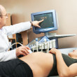 Ultrasound medical examination - Stock Photo