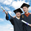 Royalty-Free Stock Photo: Two graduate students