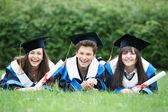 Happy graduate students — Stock Photo