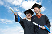 Two graduate students — Stock Photo