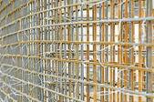 Metal rod reinforcement construction — Stock Photo