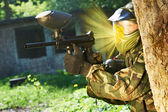 Paintball direct shot — Stock Photo
