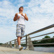 Jogging sport man - Stock Photo