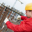 Construction worker making reinforcement — Stock Photo #5913188