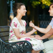 Offer of marriage outdoors — Stock Photo #5913435