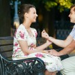 Offer of marriage outdoors — Stock Photo