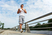 Jogging sport man — Stock Photo