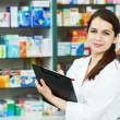 Pharmacy chemist woman in drugstore — Stock Photo #5934255
