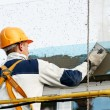 Facade stopping and surfacer works — Stock Photo #6002859