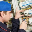 Electrician at work — Stock Photo #6066481