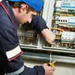 Electrician at work — Stock Photo