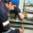 Electrician at work — Stock Photo #6066602