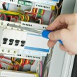 Close-up of Electrician work - Stock Photo