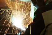 Welding works — Foto Stock