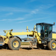 Road grader bulldozer - Stock Photo