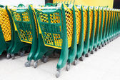Compras carrinhos — Fotografia Stock