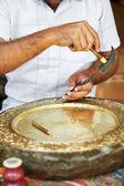 Calker ручной латунные плиты — Стоковое фото