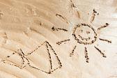 Fondo de mar playa — Foto de Stock