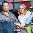 Young couple at clothes shopping — Stock Photo #6517596