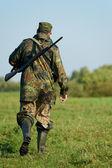 Cazador con pistola rifle — Foto de Stock