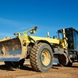 Stock Photo: Road grader bulldozer