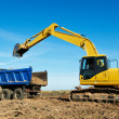 Excavator loader at work — Stock Photo #6629393