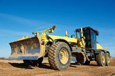 Road grader bulldozer — Stock Photo