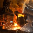 Stock Photo: Smelting metal in a metallurgical plant.