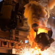 Smelting metal in a metallurgical plant. — Stock Photo #6489781