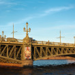 Trinity bridge across the river Neva, Russia, St. Petersburg — Stock Photo #6489907