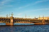 Trinity bridge across the river Neva, Russia, St. Petersburg — Stock Photo