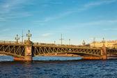Trinity bridge across the river Neva, Russia, St. Petersburg — Stock Photo