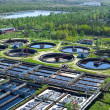 Water recycling on sewage treatment station — Stock Photo #6490026