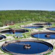 Water recycling on sewage treatment station — Stock Photo #6490027