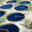 Water recycling on sewage treatment station — Stock Photo #6490047