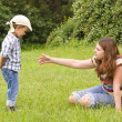 Mother and son in park — Stock Photo #6270371