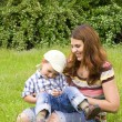 Mother and son in park — Stock Photo