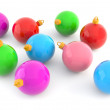 Color christmas baubles — Stock Photo
